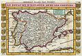 1747 La Feuille Map of Spain and Portugal - Geographicus - Spain-ratelband-1747.jpg