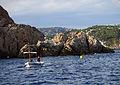 175 Barca davant l'illa del Freu (Sant Feliu de Guíxols).JPG