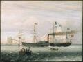 1848 Britannia BostonHarbor byFitzHenryLane MFABoston.png