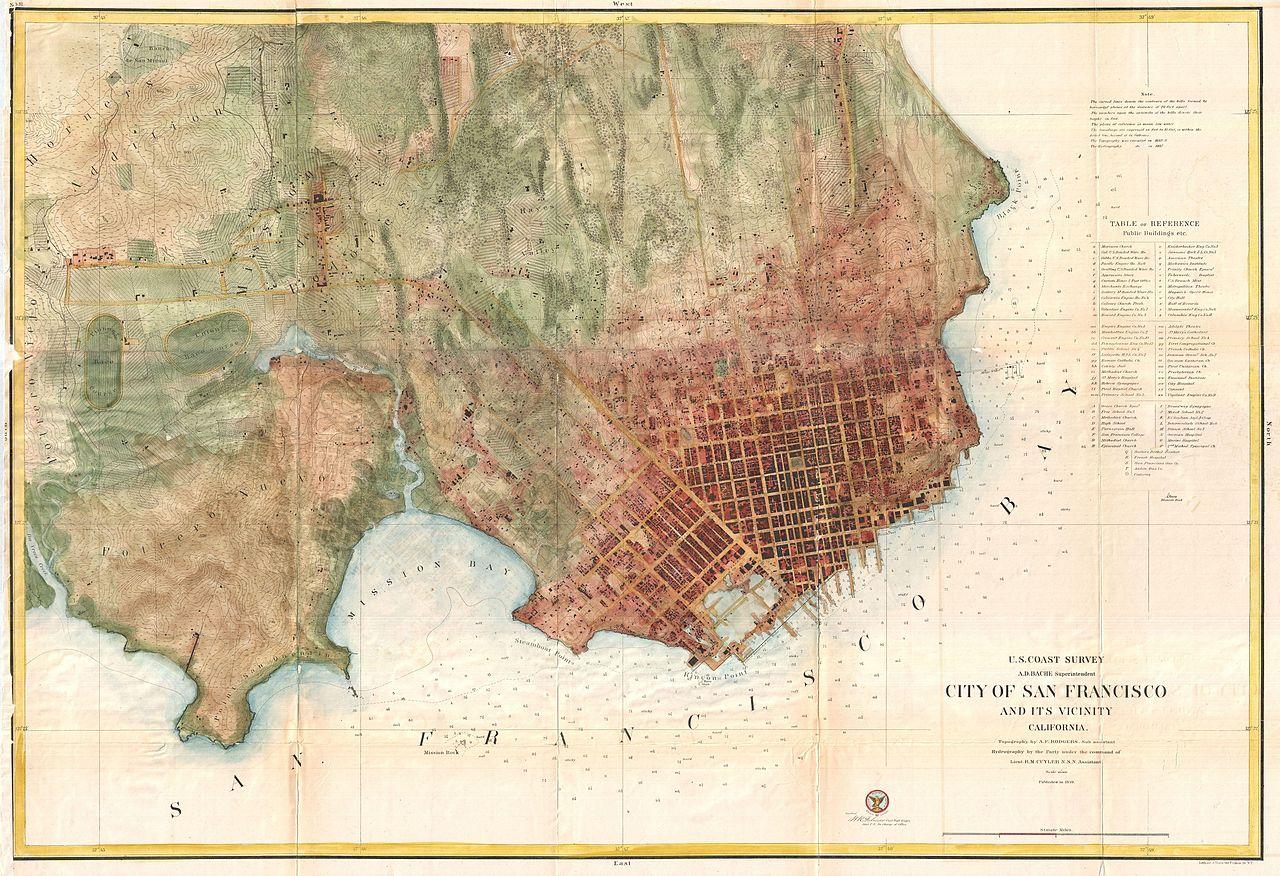 File US Coast Survey Chart Or Map Of San Francisco - San franciso us map