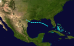 1874 Atlantic tropical storm 1 track.png