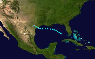 1874 Atlantic hurricane season - Image: 1874 Atlantic tropical storm 1 track