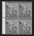 1875 Cape of Good Hope watermark Crown CC, Half Penny grey-black. Block of four MM UM. SG 28.jpg