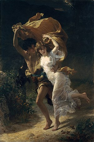 The Storm (painting) - Image: 1880 Pierre Auguste Cot The Storm