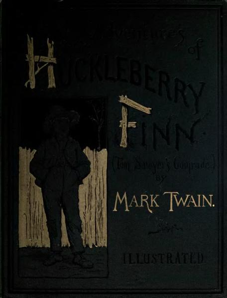 File:1885. The Adventures of Huckleberry Finn (Tom Sawyer's Comrade).djvu