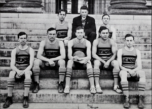 Clemson Tigers men's basketball, 1912–19 - Image: 1912 Clemson Tigers basketball team (Taps 1912)