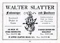 1920s advert Walter Slatter, fishmonger, poulterer, Stoke Newington N16.jpg
