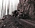 1939. Log truck loaded with burned logs. Meehan operation. Tillamook Burn, Oregon. (34632738680).jpg