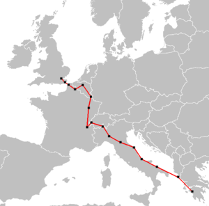 1948 Summer Olympics torch relay - The Olympic torch relay route for the 1948 Summer Olympics
