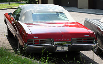 Buick Centurion - 1971 convertible, rear view