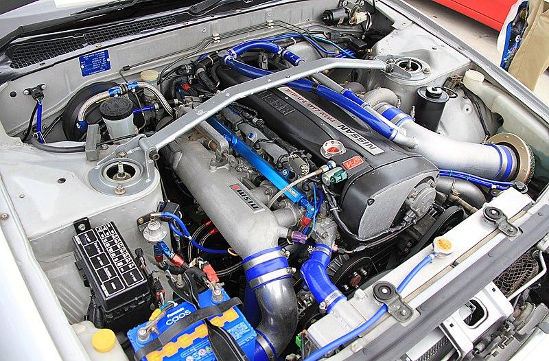 File:1993 Nissan Skyline Coupe GTS25 Type S engine.jpg