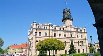 Jarosław - Town Hall and market square