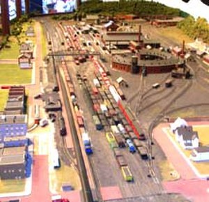 Dennison, Ohio - This model of the Dennison Depot and Railyard is a current exhibit at the Dennison Railroad Depot Museum.