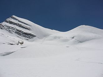 Brunegghorn - View of the Brunegghorn from the slopes of the Brunegg Glacier