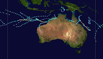 2008–09 Australian region cyclone season - Image: 2008 2009 Australian region cyclone season summary