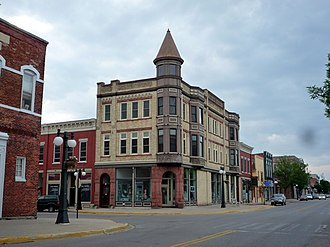 Menominee, Michigan - The Historical Waterfront Downtown is listed on the National Register of Historic Places as the First Street Historic District.