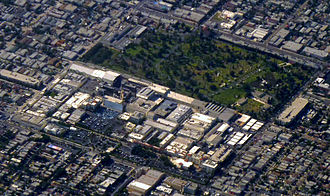 Hollywood Forever Cemetery - Hollywood Forever Cemetery abuts Paramount Studios on its south end.