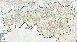 Highlighted position of Vught in the maps of The Netherlands and North Brabant