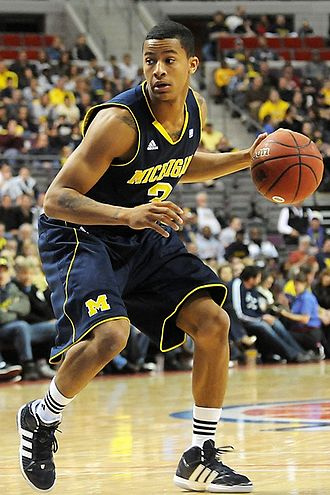 Trey Burke - Burke led the team in points, assists, steals and blocks. (2011-12-10)