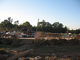 2011 Philadelphia, Mississippi, tornado destroyed home.JPG