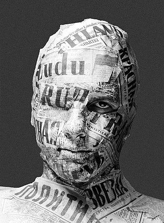 Censorship in Communist Poland - Allegory communist censorship collage of artist Jacek Halicki (1989).