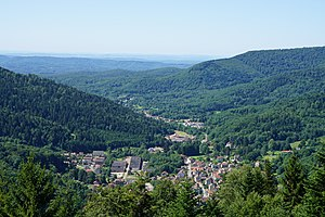 Plancher-les-Mines - A general view of the village and the surrounding hills