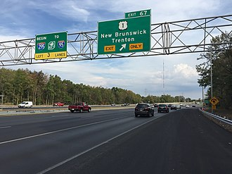 Interstate 95 in New Jersey - Before 2018, I-95 north abruptly became I-295 South in Lawrence Township. Signage directed drivers to continue south on I-295 and east on I-195 to reach I-95 North (New Jersey Turnpike).