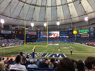 East–West Shrine Game - Kickoff of the 2017 game at Tropicana Field