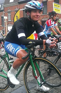 Marianne Vos Dutch cyclo-cross, road bicycle racer and track racer