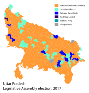 2017 Uttar Pradesh election result by alliance.png
