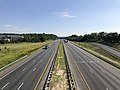 2019-06-24 09 14 03 View north along Interstate 95 from the overpass for Virginia State Route 606 (Mudd Tavern Road) in Thornburg, Spotsylvania County, Virginia.jpg