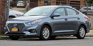 Hyundai Accent subcompact car produced by Hyundai