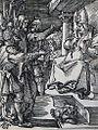239 Life of Christ Phillip Medhurst Collection 4490 High priest rent his clothes Mark 14.63 Durer.jpg