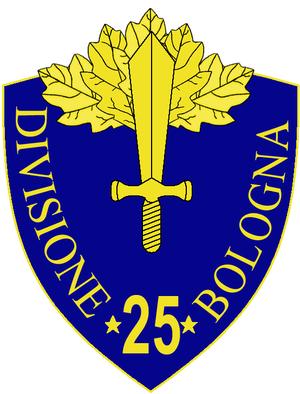 25th Infantry Division Bologna - 25th Infantry Division Bologna Insignia