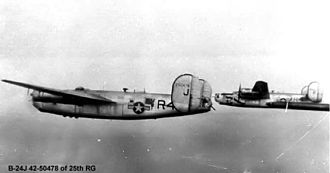 RAF Watton - Consolidated B-24J-401-CF Liberator of 25th BG.