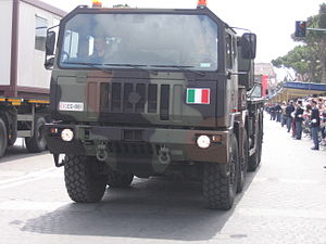 Astra (company) - Astra Military Truck in the Italian army parade in Italy, 2007.