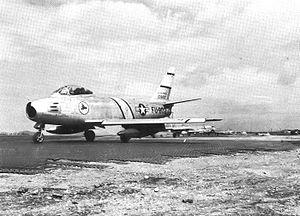 334th Fighter Squadron - Image: 334th Fighter Interceptor Squadron North American F 86E 10 NA Sabre 51 2802