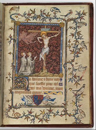 Psalter of Bonne de Luxembourg - Crucifixion