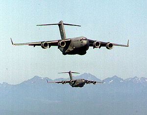62d Operations Group - C-17s preparing to land at McChord AFB