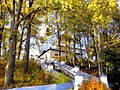 700. Pushkin Mountains. Svyatogorsky monastery. Ladder to the Assumption Church.jpg