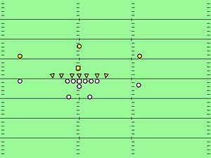 7–1–2–1 defense - 7-diamond, stemming from a wide tackle 6 by replacing one linebacker with a nose guard. This variation was seen from the 1940s to the 1960s. This defense is very similar to the 46 defense popularized by Buddy Ryan.
