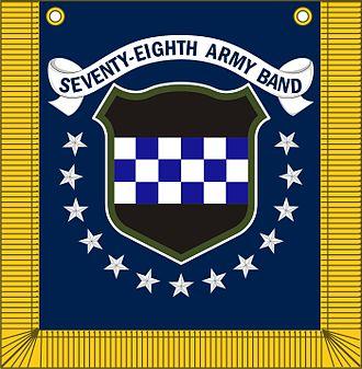 78th Army Band - 78th Army Band logo and tabard