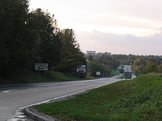 A340 road road in England