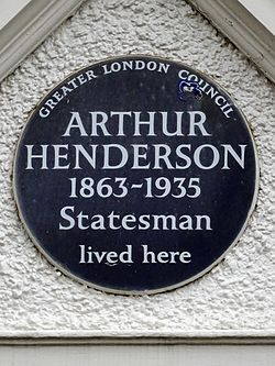 Arthur henderson 1863 1935 statesman lived here