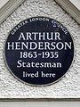 ARTHUR HENDERSON 1863-1935 Statesman lived here.jpg