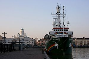 Greenpeace - Greenpeace's ship MV ''Arctic Sunrise'' in the harbour of Helsinki.