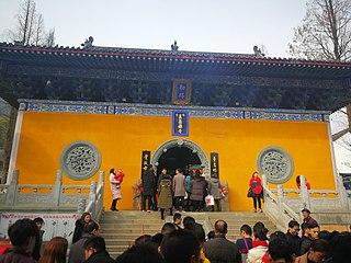 Wuzu Temple building in Huangmei County, China