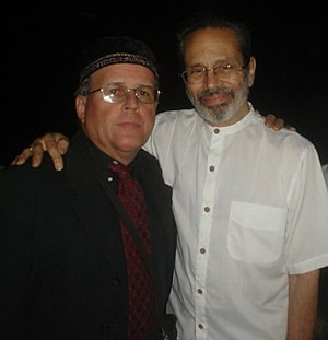 Luis Manuel Molina - On the left Luis Manuel Moilna and on the right Leo Brouwer