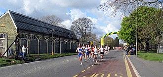 Woolwich Common - The 2008 London Marathon on Ha-Ha Road