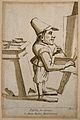 A male dwarf, painting. Colour etching by A. Pond, 1736, aft Wellcome V0007419.jpg